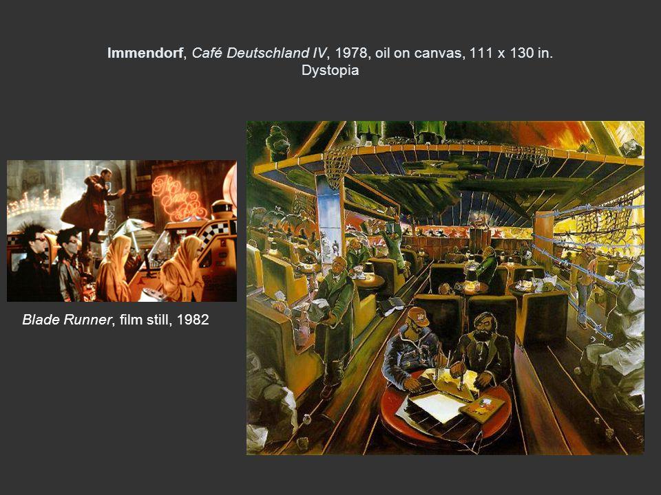 Immendorf, Café Deutschland IV, 1978, oil on canvas, 111 x 130 in.