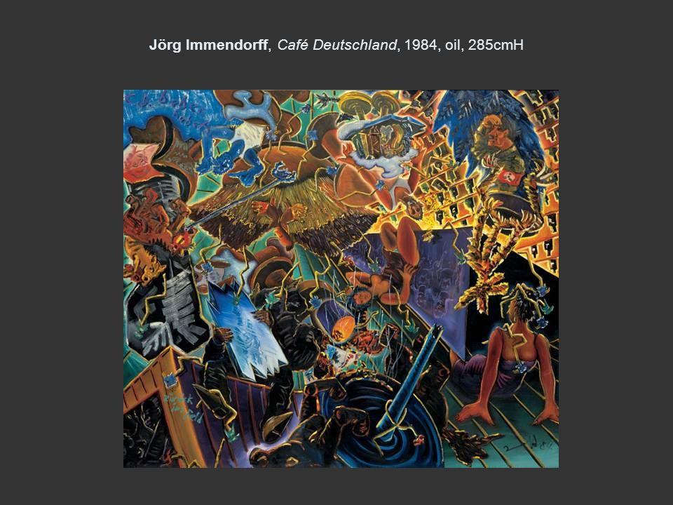 Jörg Immendorff, Café Deutschland, 1984, oil, 285cmH