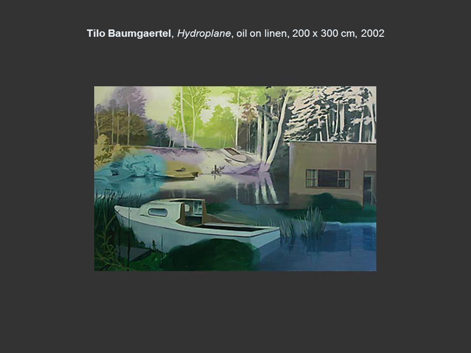 Tilo Baumgaertel, Hydroplane, oil on linen, 200 x 300 cm, 2002