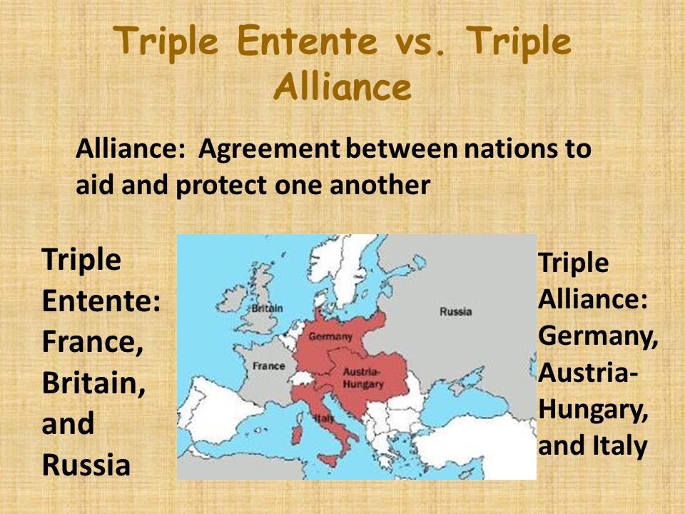 2. Alliance System Triple Entente: Triple Alliance: