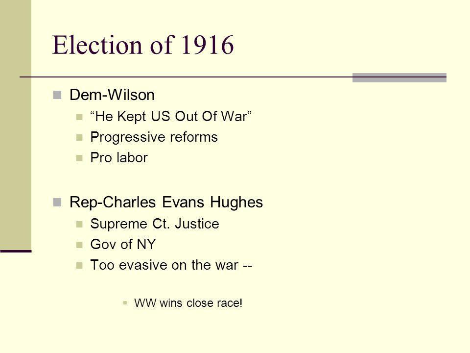"Timeline of US Involvement Jan.1917-Wilson wants ""peace without victory"" between Britain & Germany Jan 31, 1917 Germany intends USW on all ships in wa"