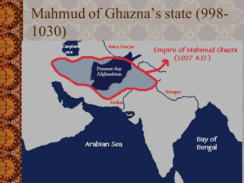 Mahmud of Ghazna's state (998- 1030) 6
