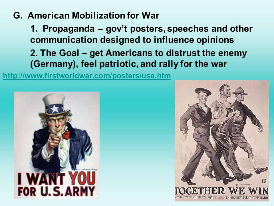 G.American Mobilization for War 1.