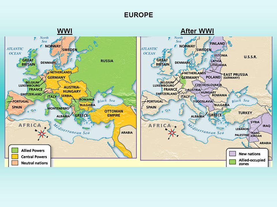 WWIAfter WWI EUROPE