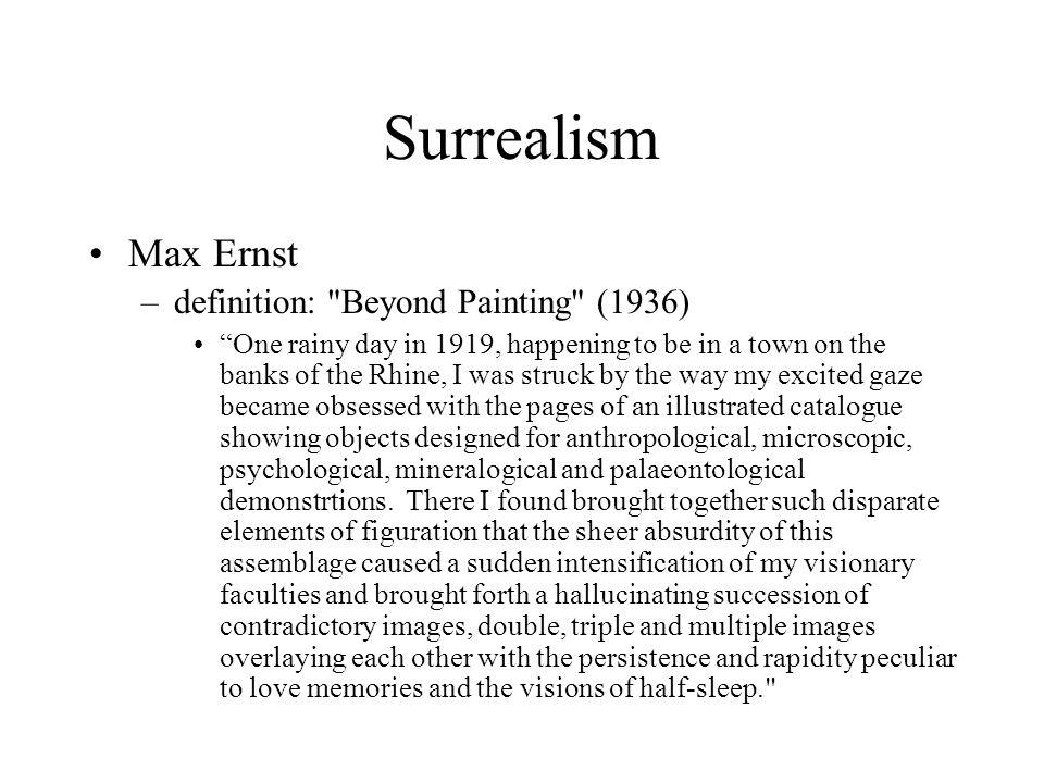 Surrealism Max Ernst –definition: