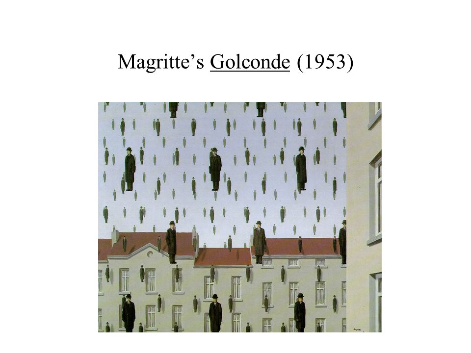Magritte's Golconde (1953)