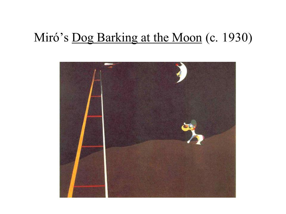 Miró's Dog Barking at the Moon (c. 1930)