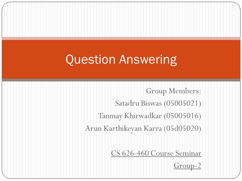 Outline Introduction Why Question Answering ? AskMSR FALCON Conclusion