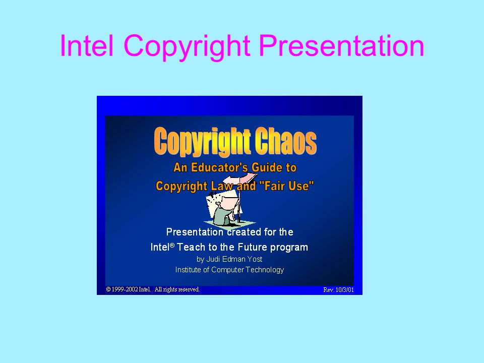 Intel Copyright Presentation