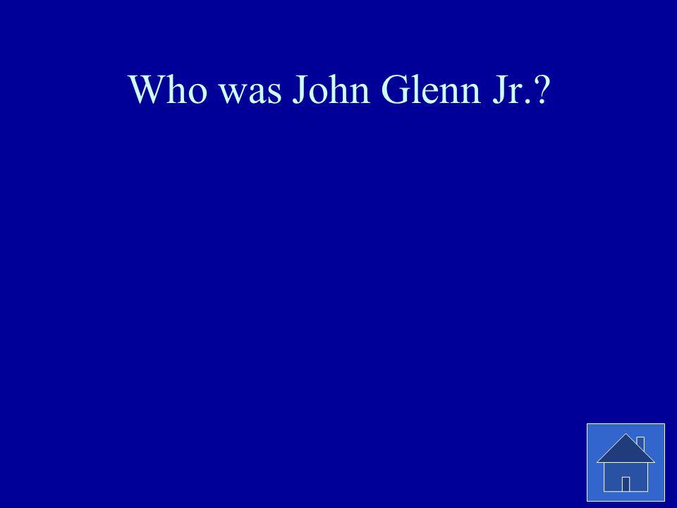 Who was John Glenn Jr.?