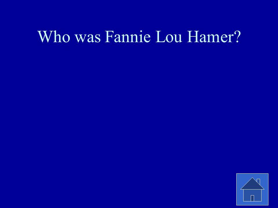 Who was Fannie Lou Hamer?