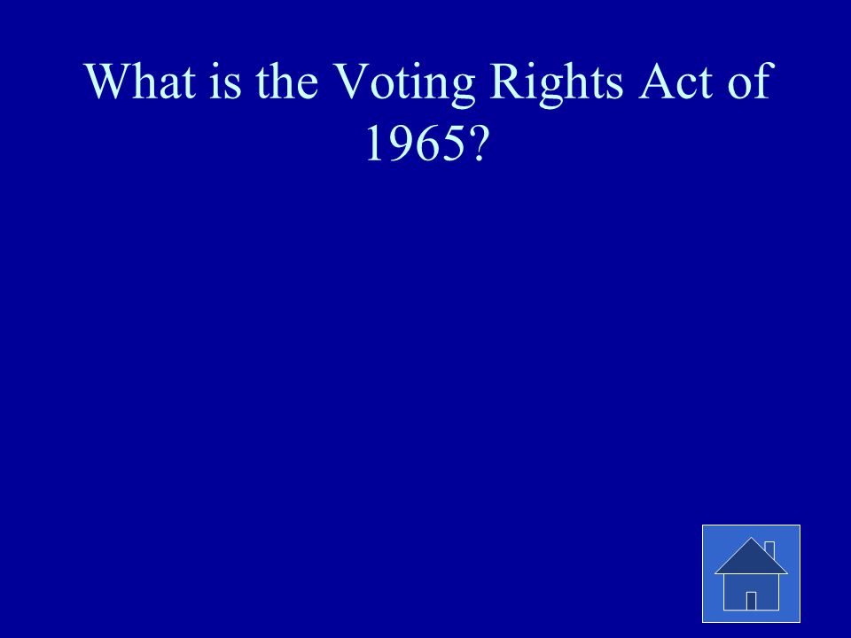 What is the Voting Rights Act of 1965?