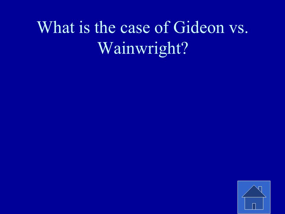 What is the case of Gideon vs. Wainwright?