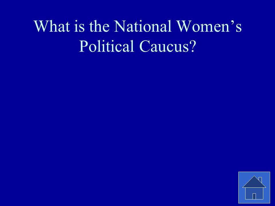 What is the National Women's Political Caucus?