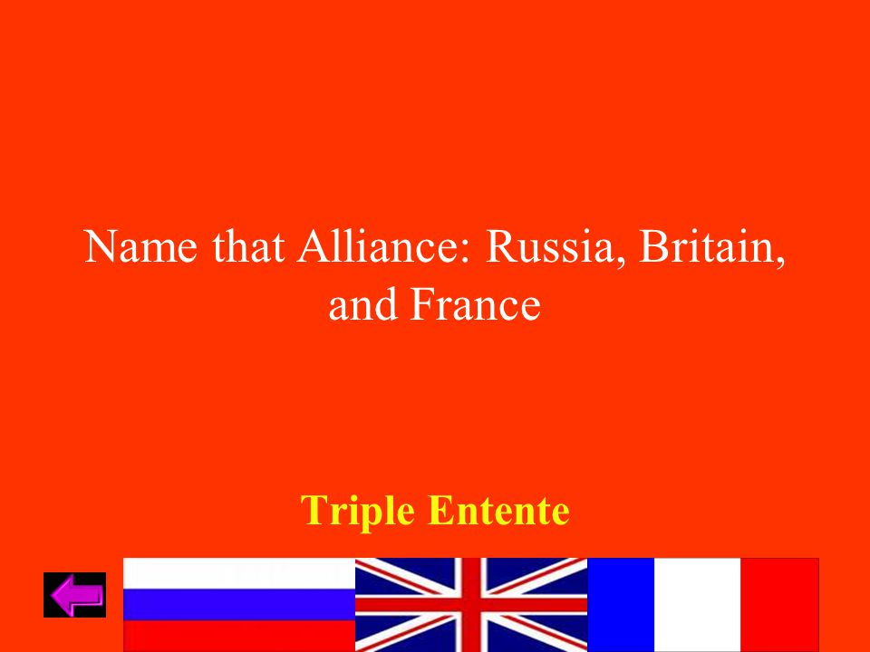 Name that Alliance: Germany, Austria-Hungary, and Ottoman Empire Central Powers