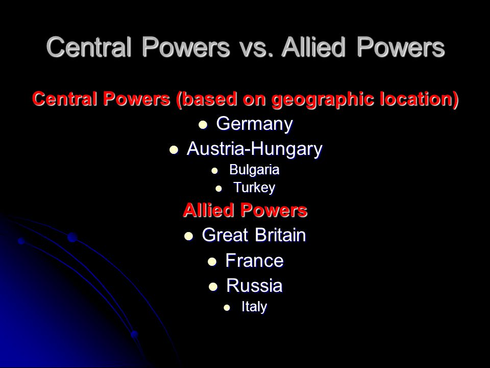Central Powers vs.