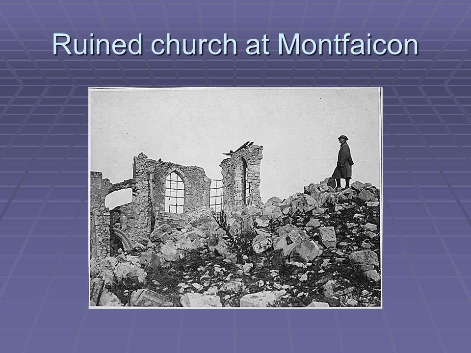 Ruined church at Montfaicon