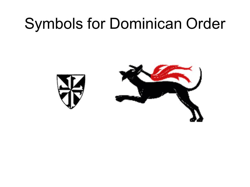 Symbols for Dominican Order