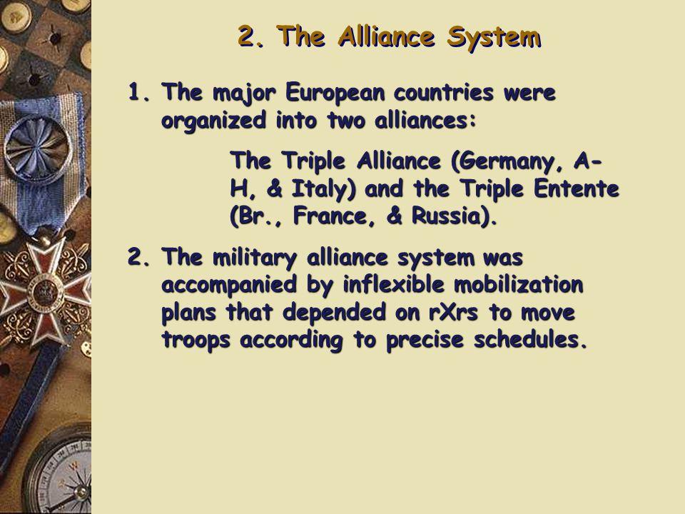 2. The Alliance System Triple Entente: Triple Alliance: