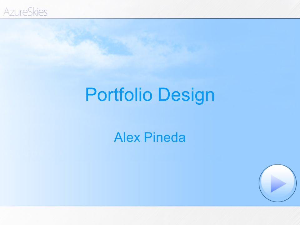Portfolio Design Alex Pineda