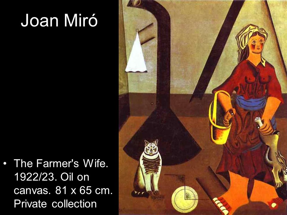 Joan Miró The Farmer's Wife. 1922/23. Oil on canvas. 81 x 65 cm. Private collection