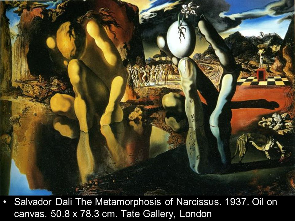 Salvador Dali The Metamorphosis of Narcissus. 1937. Oil on canvas. 50.8 x 78.3 cm. Tate Gallery, London