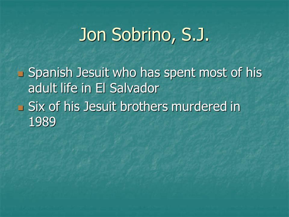 Jon Sobrino, S.J.