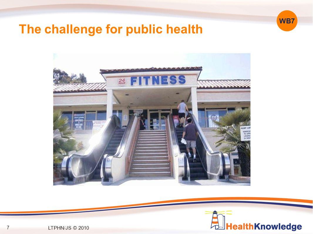 48 Population measures Reducing obesity Increasing physical activity Choosing health: choosing a healthy diet and choosing activity –5-a-day –5-a-week WB43 LTPHN/JS © 2010