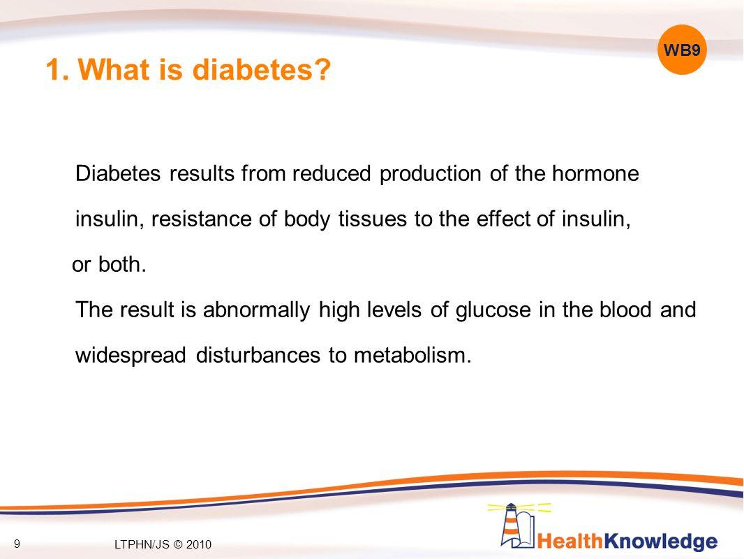 9 1. What is diabetes.