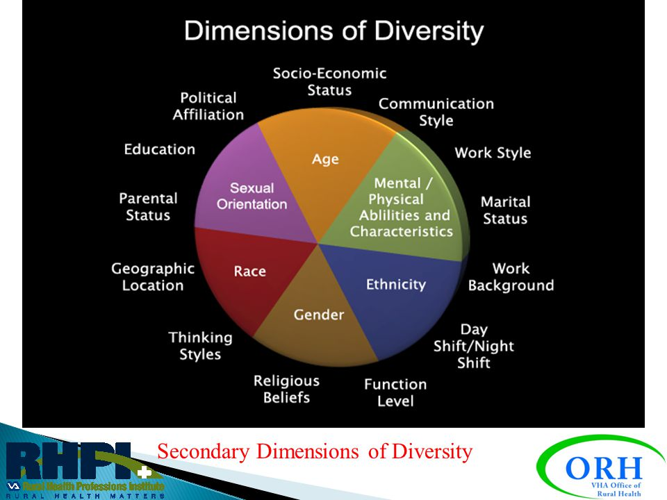Primary Dimensions of Diversity
