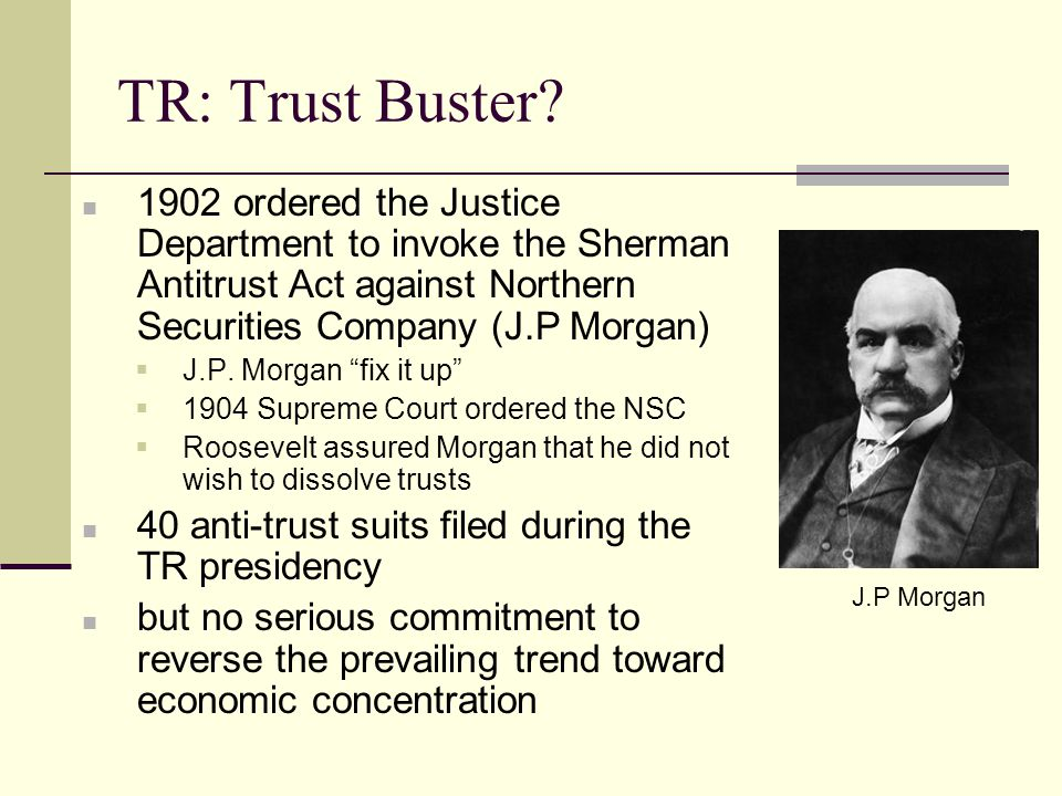 TR: Trust Buster.