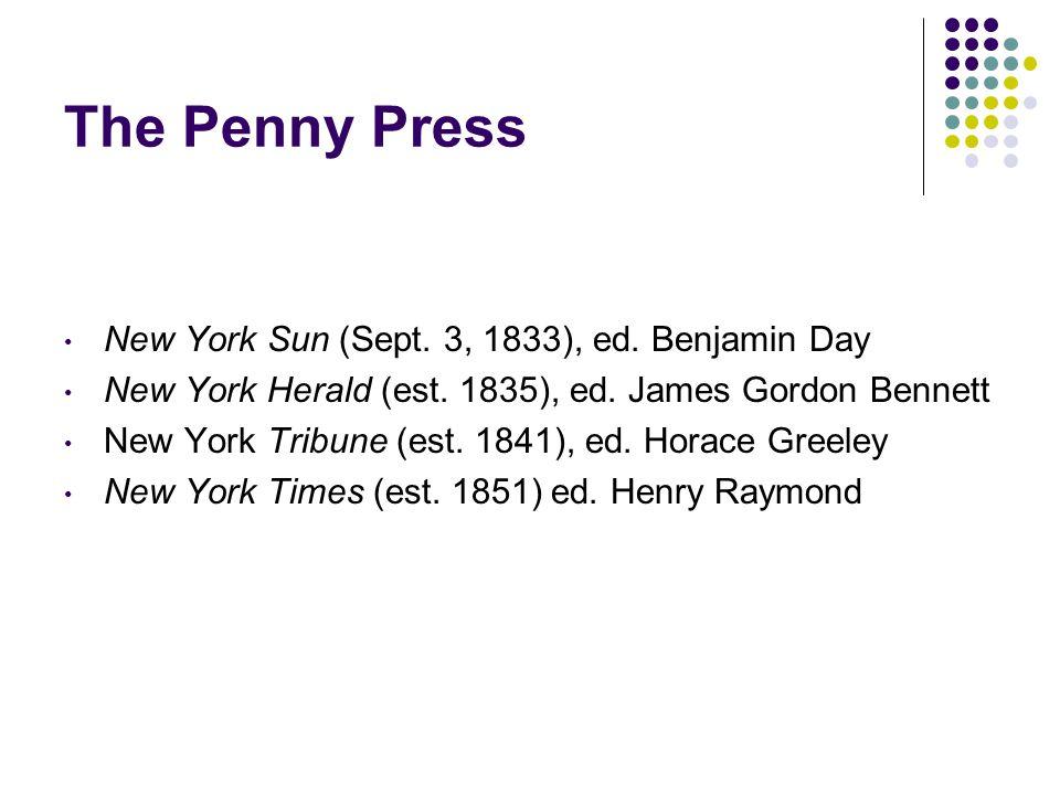 The Penny Press New York Sun (Sept. 3, 1833), ed.