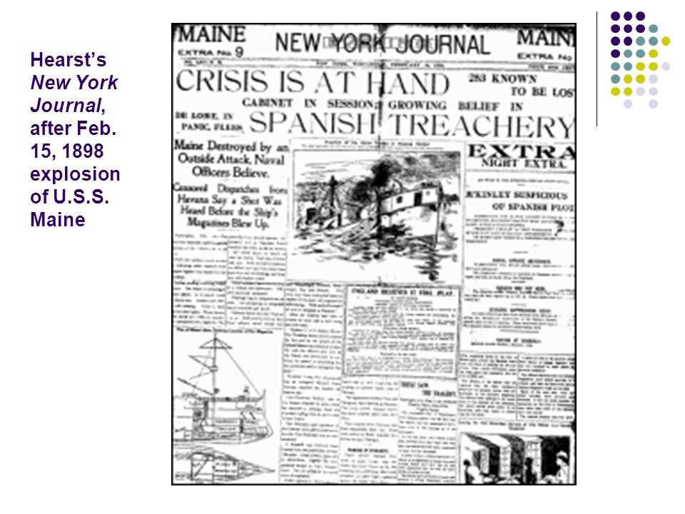 Hearst's New York Journal, after Feb. 15, 1898 explosion of U.S.S. Maine