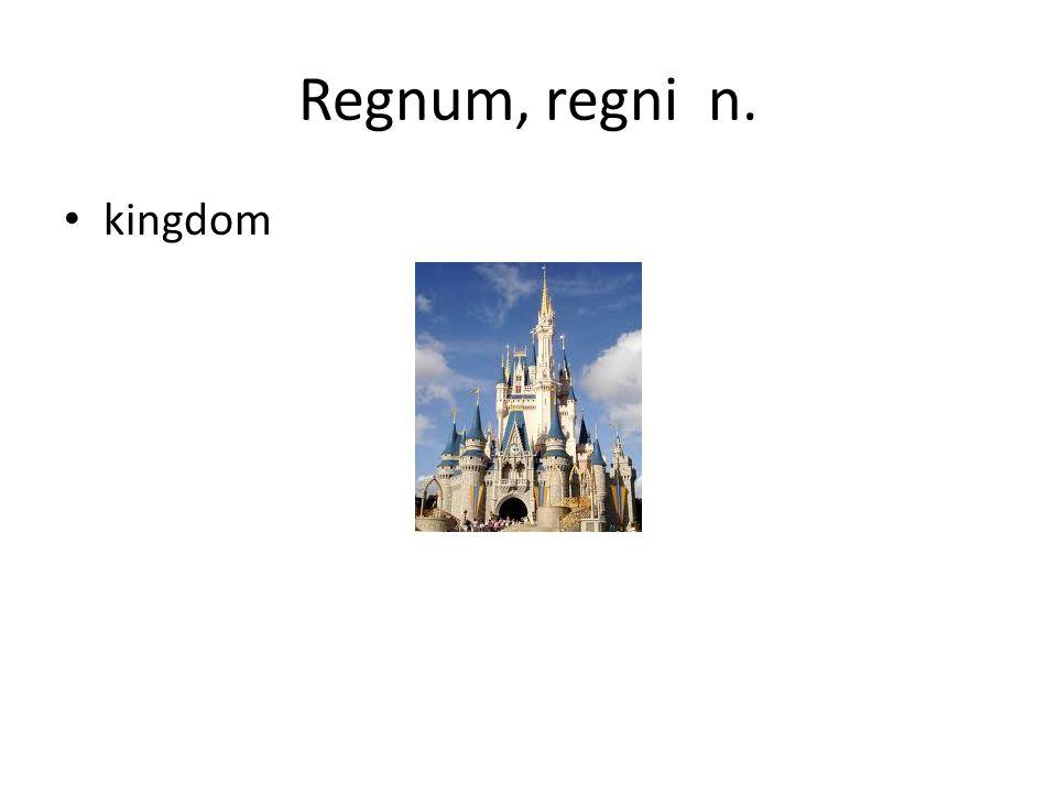 Regnum, regni n. kingdom