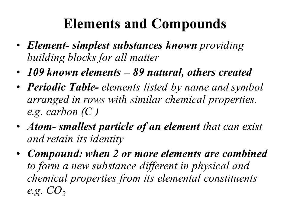Summary 1 Organic substances contain C.