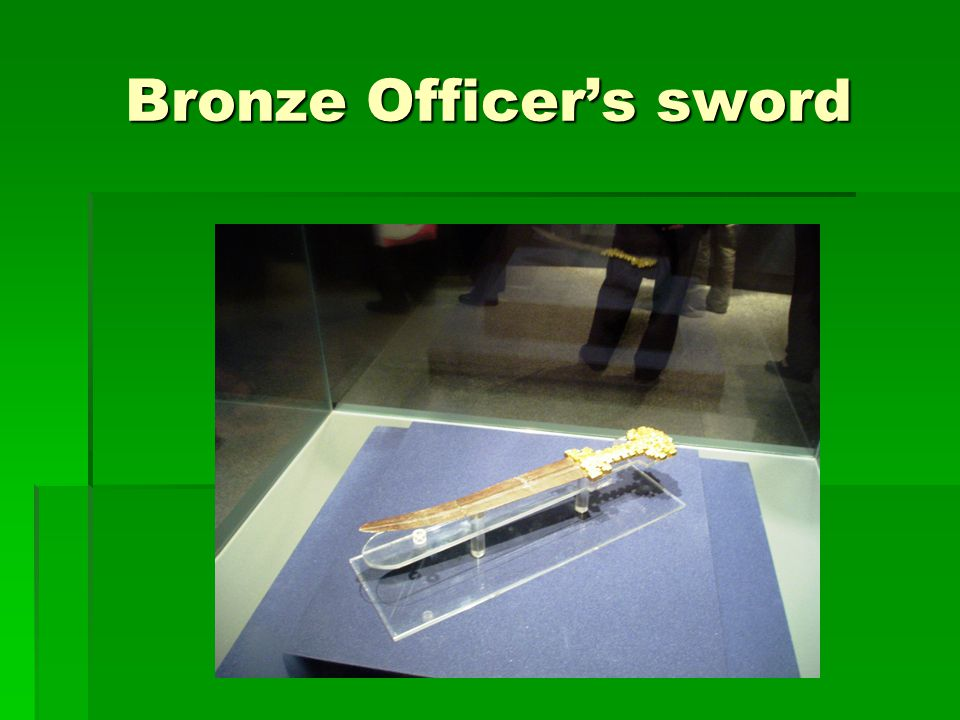 Bronze Officer's sword