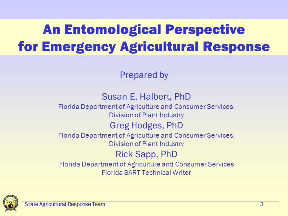 2 An Entomological Perspective for Emergency Agricultural Response