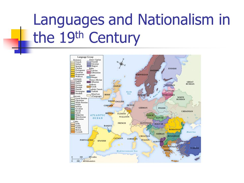 Languages and Nationalism in the 19 th Century