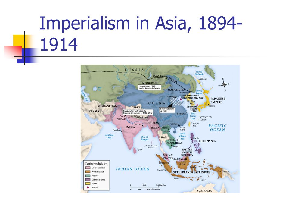 Imperialism in Asia, 1894- 1914