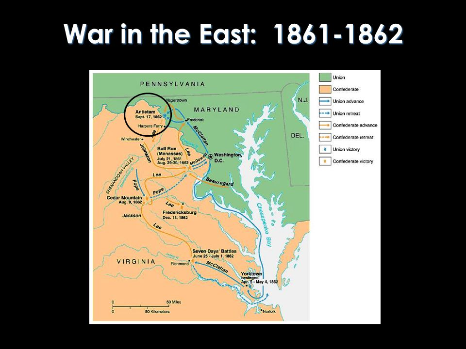 War in the East: 1861-1862