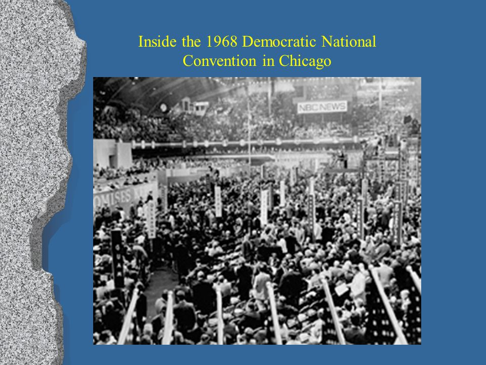 Trouble inside DNC as well lPlPro- and anti-war delegates argued over Vietnam policy lAlAttempts made to silence anti-war delegates lAlAnti-war delega