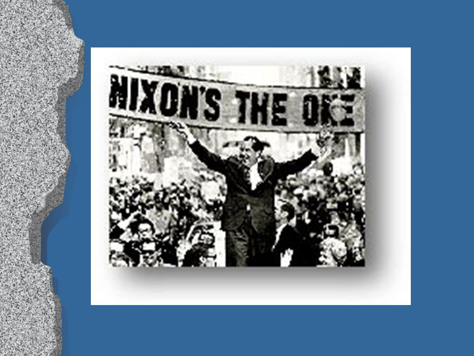 """H vs. N cont. lRlRepublicans ran strong campaign l""""l""""Peace with honor"""" lNlNixon running mate was Spiro Agnew - the """"shrill partisan"""" of the ticket lNl"""