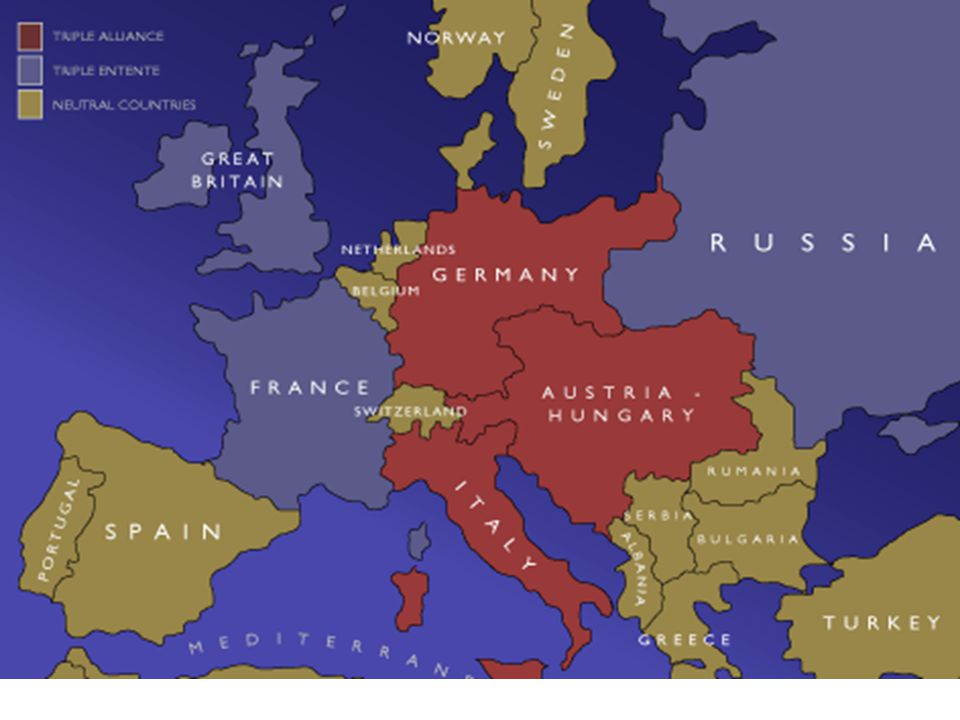 Alliances To counter the Triple Alliance, France, Russia, and Great Britain formed the Triple Entente.