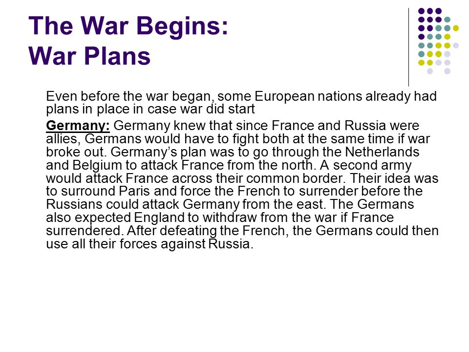 War Plans France: In case of war, France also had a plan.