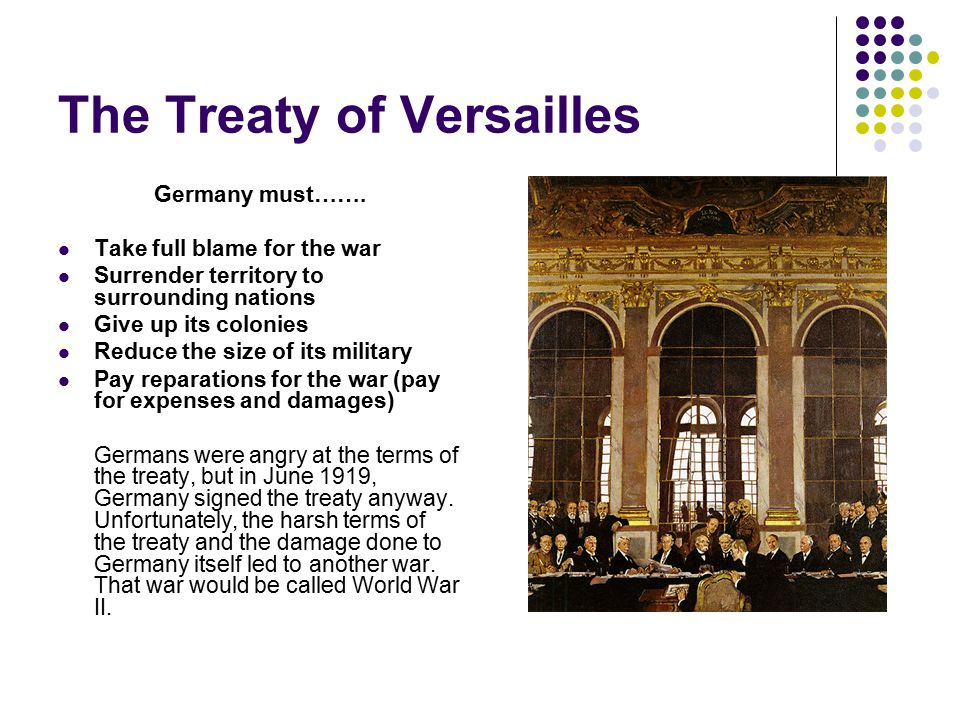 America Rejects World Leadership When Wilson returned with the Treaty of Versailles in 1919, he submitted it to the Senate for approval.