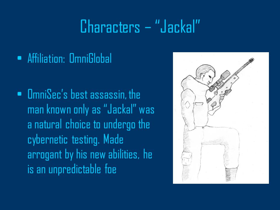 Characters – Subject 19: Zeus Name: Unknown Affiliation: OmniGlobal Test subject who underwent a unique upgrade process, grafting him to his weapon, a prototype electrical cannon.