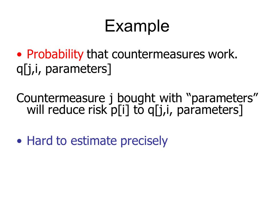 Probability that countermeasures work.