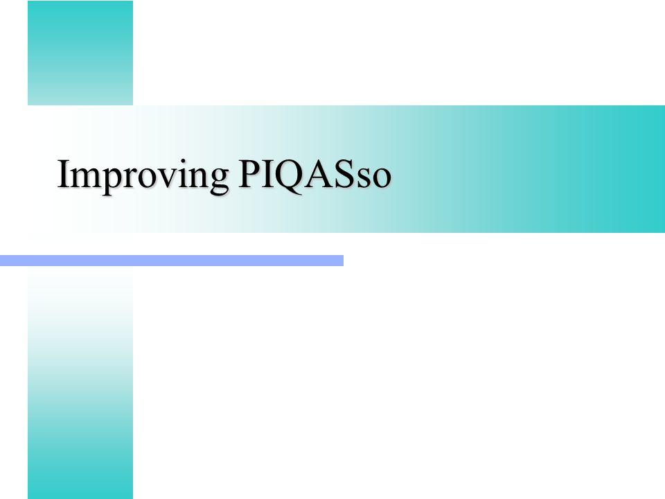 Improving PIQASso
