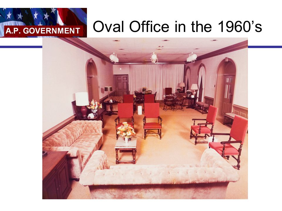 Oval Office in the 1960's