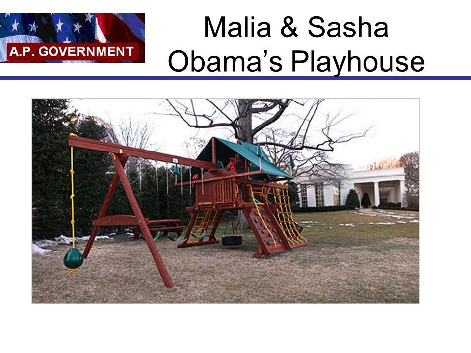 Malia & Sasha Obama's Playhouse